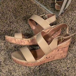Used Franco Sarto Wedge Sandals